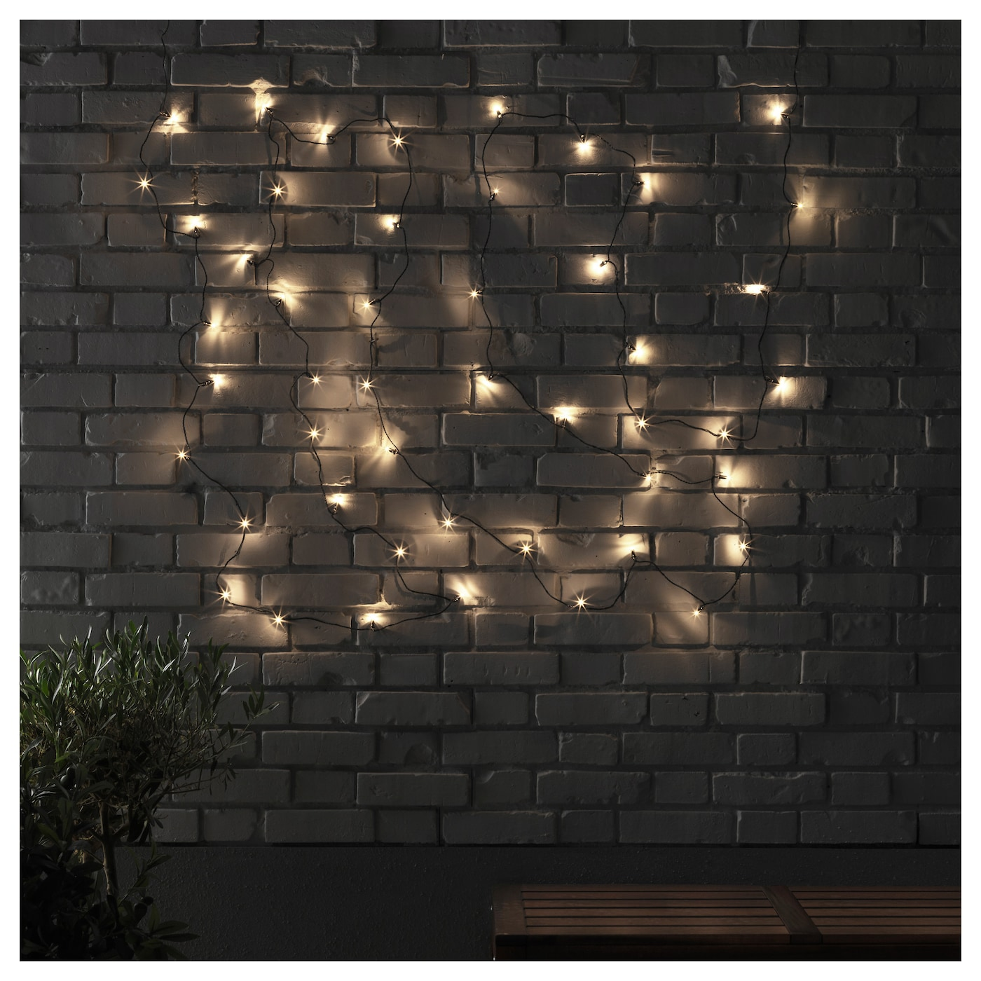 IKEA SKRUV LED lighting chain with 48 lights