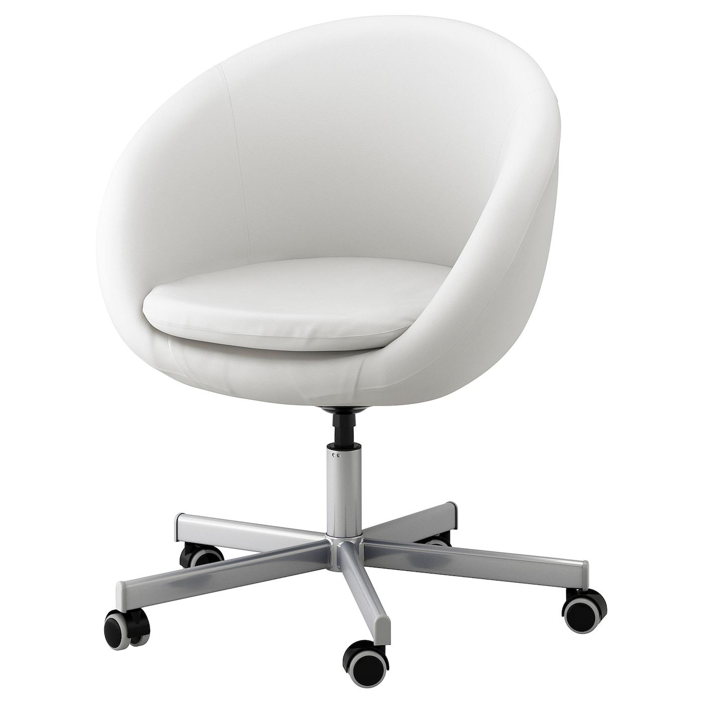 Skruvsta swivel chair idhult white ikea - Ikea chaise pour salle a manger ...