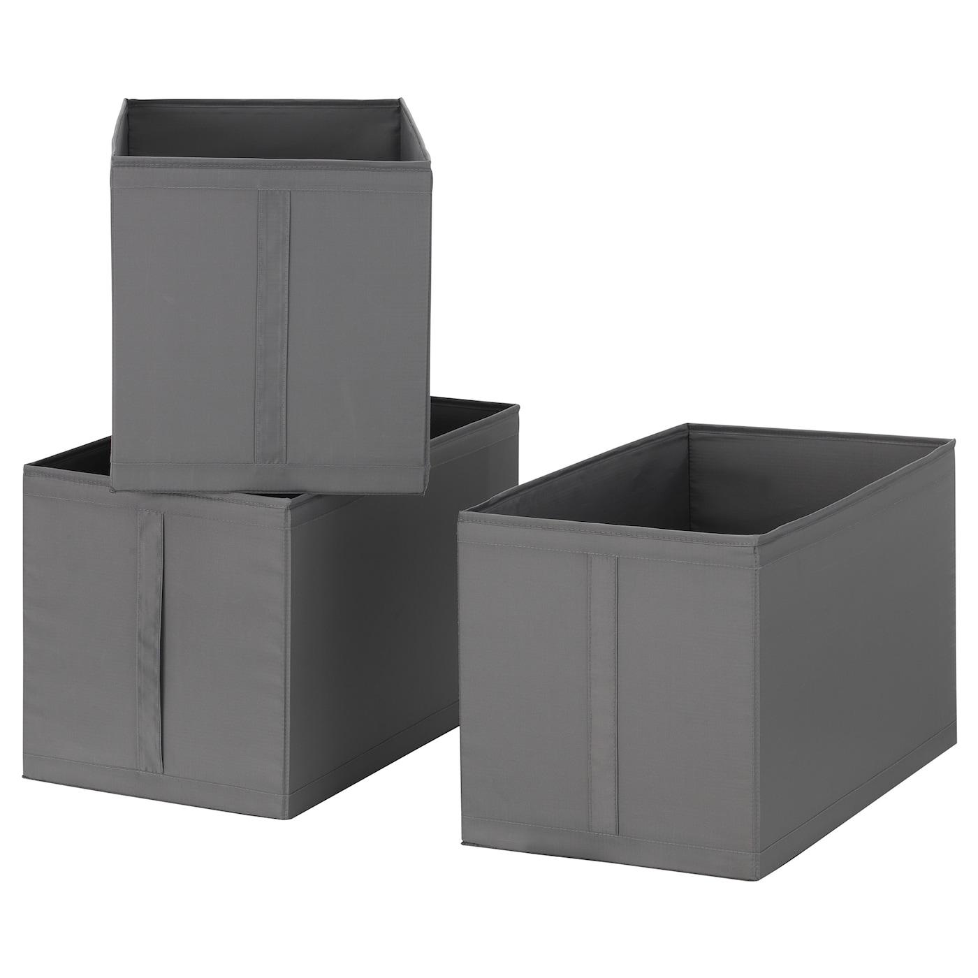 skubb box dark grey 31x55x33 cm ikea. Black Bedroom Furniture Sets. Home Design Ideas