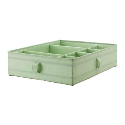 IKEA SKUBB box with compartments