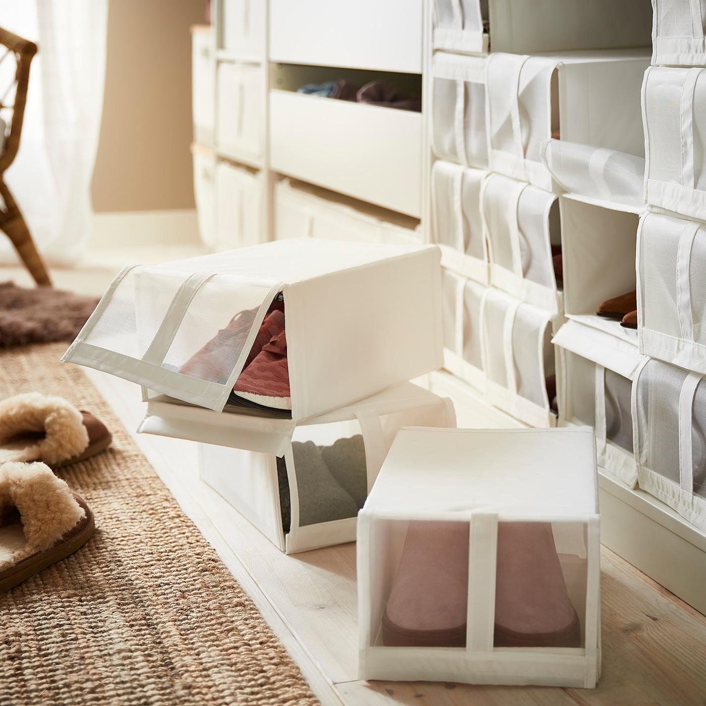 SKUBB Shoe box, white, 22x34x16 cm