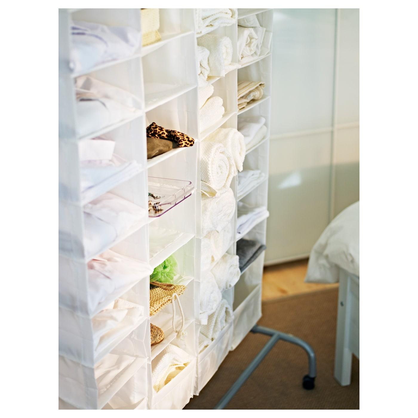 Skubb storage with 9 compartments white 22x34x120 cm ikea for Wardrobe organizer ikea