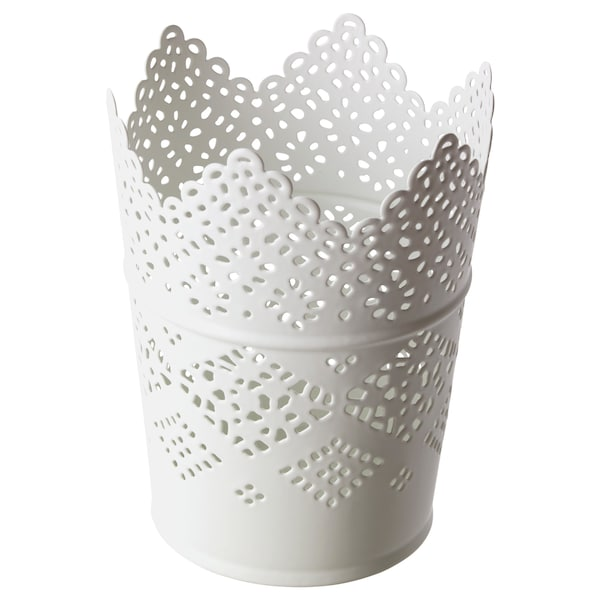 SKURAR candle holder white 11 cm