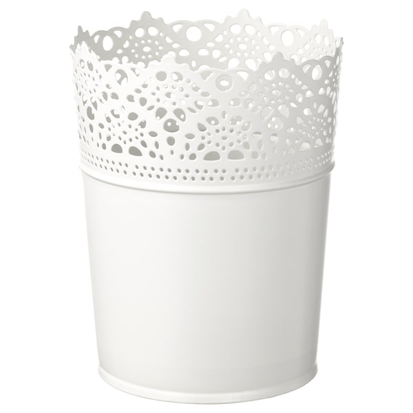 SKURAR Plant pot, in/outdoor/off-white, 10.5 cm