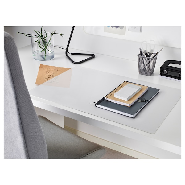 SKVALLRA Desk pad, white/transparent, 38x58 cm