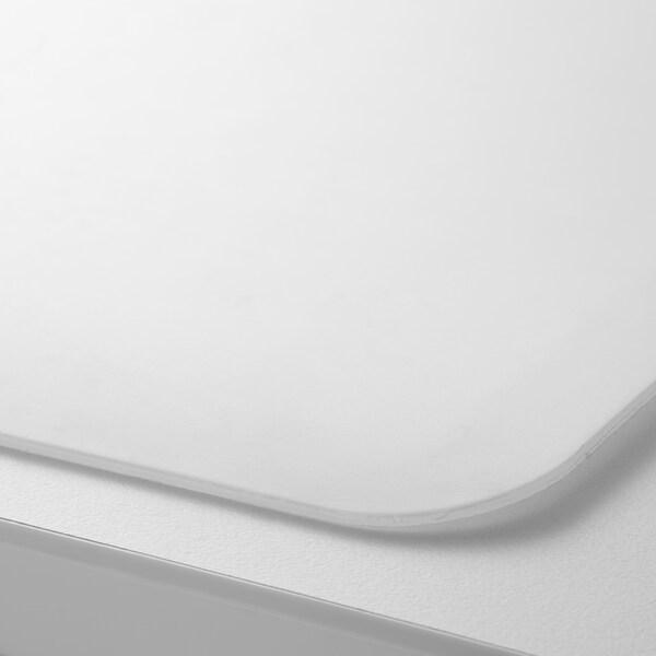 SKVALLRA Desk pad, white/transparent, 38x58 cm