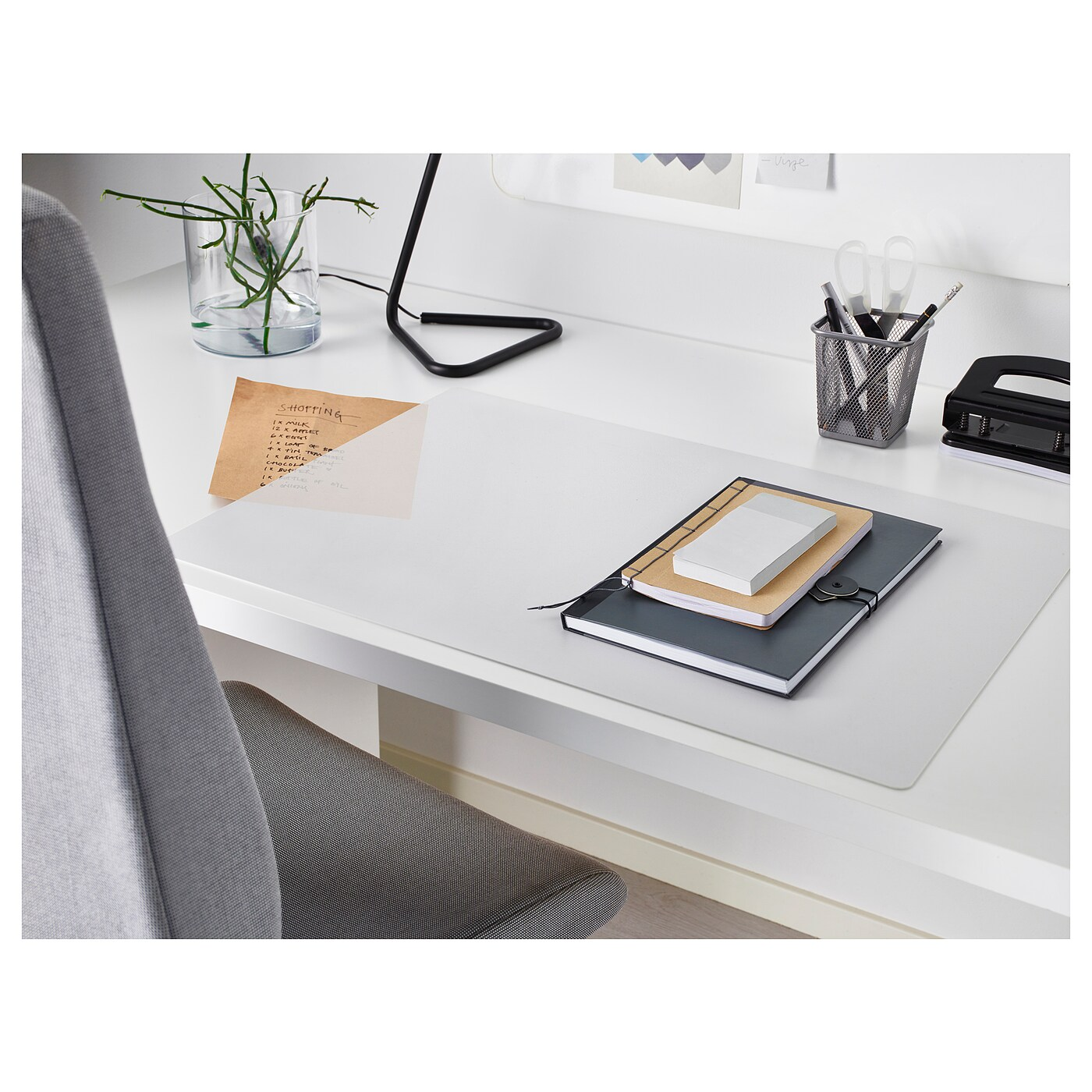 IKEA SKVALLRA desk pad Protects your desk from stains and marks.