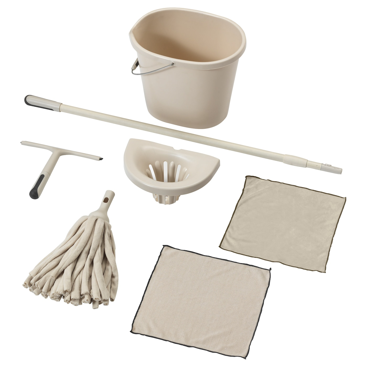 IKEA SKVALPA 7-piece cleaning set w string mop