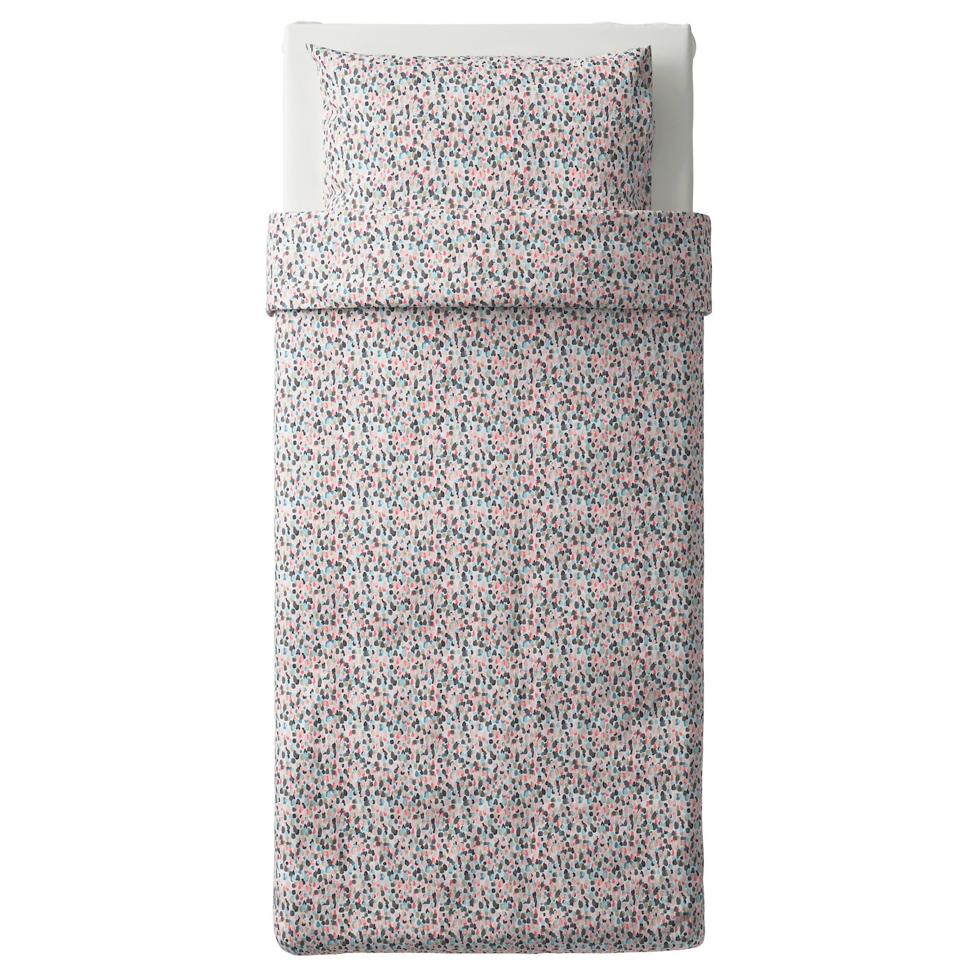 IKEA SMÅSTARR quilt cover and pillowcase Cotton, feels soft and nice against your skin.