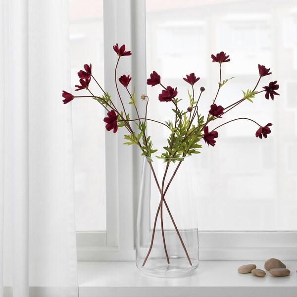 SMYCKA Artificial flower, cosmos/dark red, 65 cm