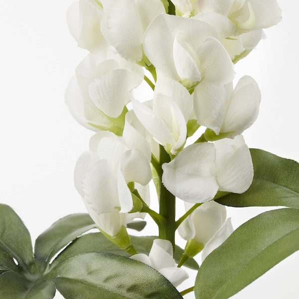 SMYCKA Artificial flower, Lupin/white, 74 cm