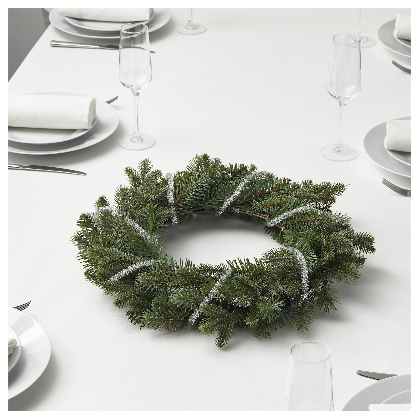IKEA SMYCKA artificial wreath Suitable for both indoor and outdoor use.