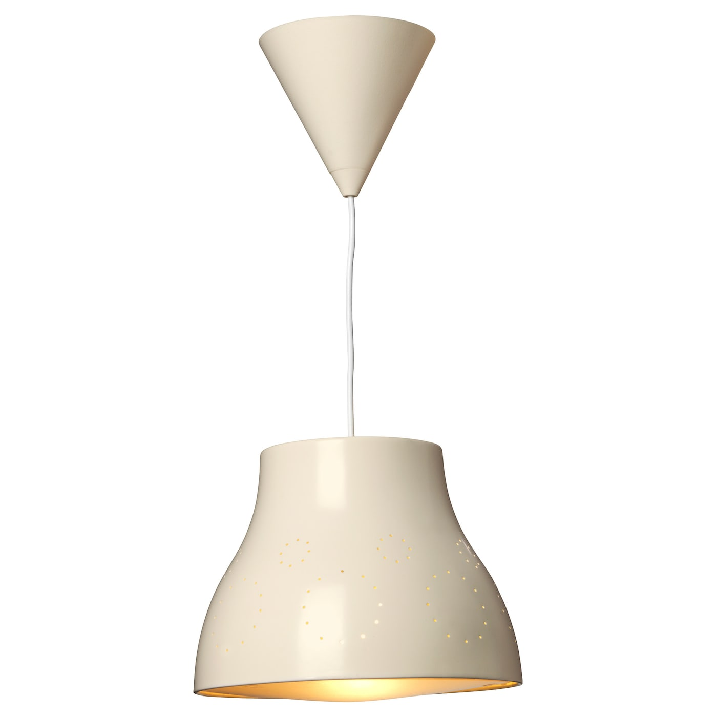 IKEA SNÖIG pendant lamp Safety tested and tamper-proof to protect little fingers.