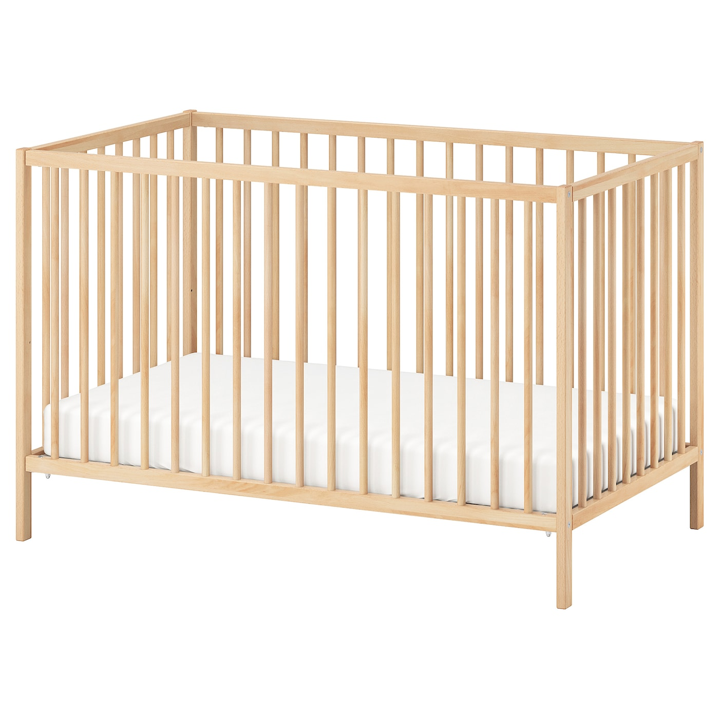IKEA SNIGLAR cot The cot base can be placed at two different heights.