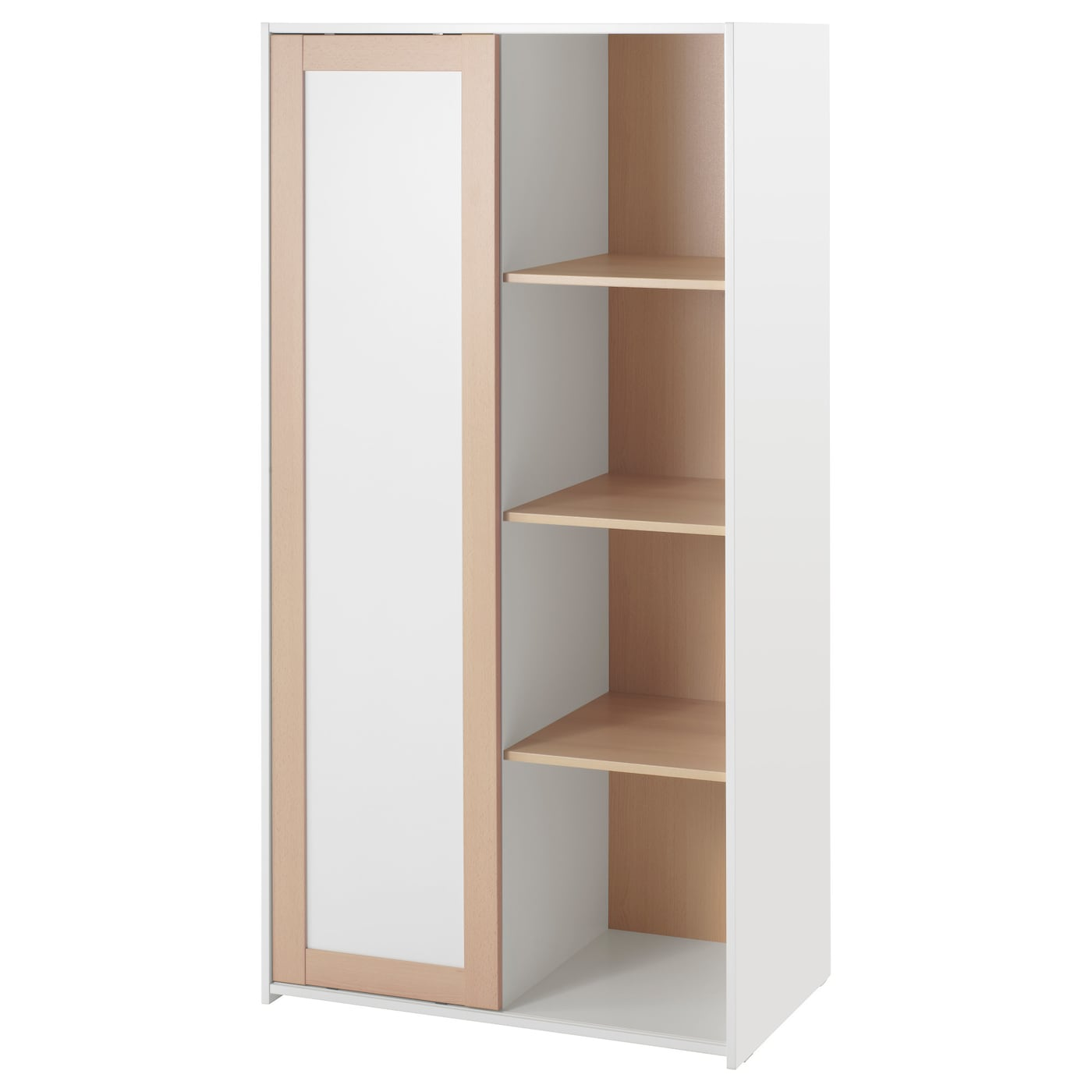sniglar wardrobe beech white 81 x 50 x 163 cm ikea. Black Bedroom Furniture Sets. Home Design Ideas