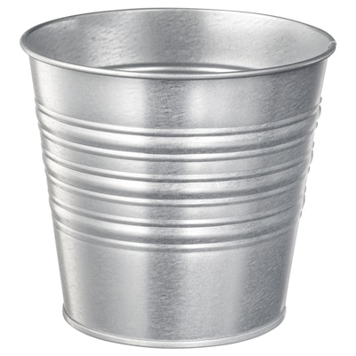 SOCKER Plant pot, in/outdoor/galvanised, 12 cm