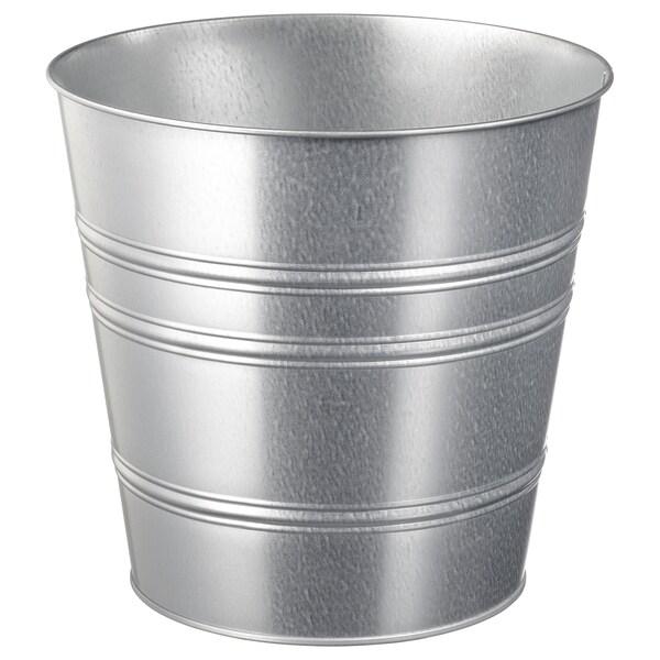 SOCKER plant pot in/outdoor/galvanised 24 cm 27 cm 24 cm 26 cm