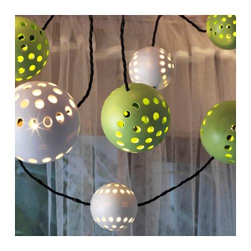 solarvet led lighting chain with 24 lights outdoor solar powered ikea. Black Bedroom Furniture Sets. Home Design Ideas