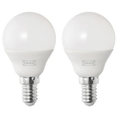 SOLHETTA LED bulb E14 470 lumen, globe opal white