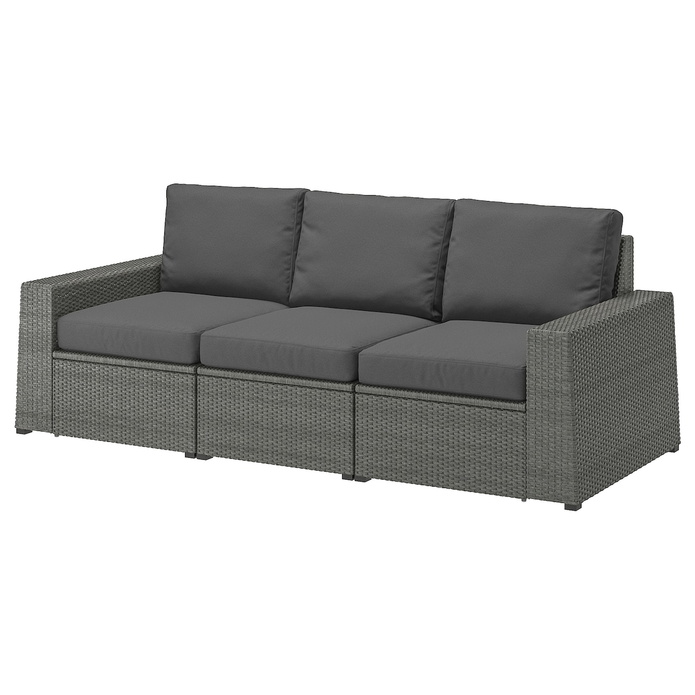 IKEA SOLLERÖN 3-seat modular sofa, outdoor Practical storage space under the seat.