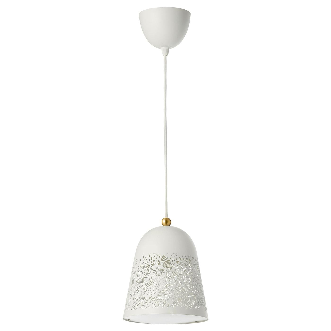 Solskur Pendant Lamp White Brass Colour Ikea Ireland