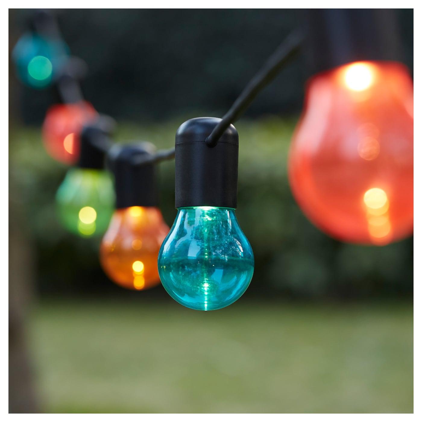 SOLVINDEN LED lighting chain with 12 bulbs Multicolour - IKEA