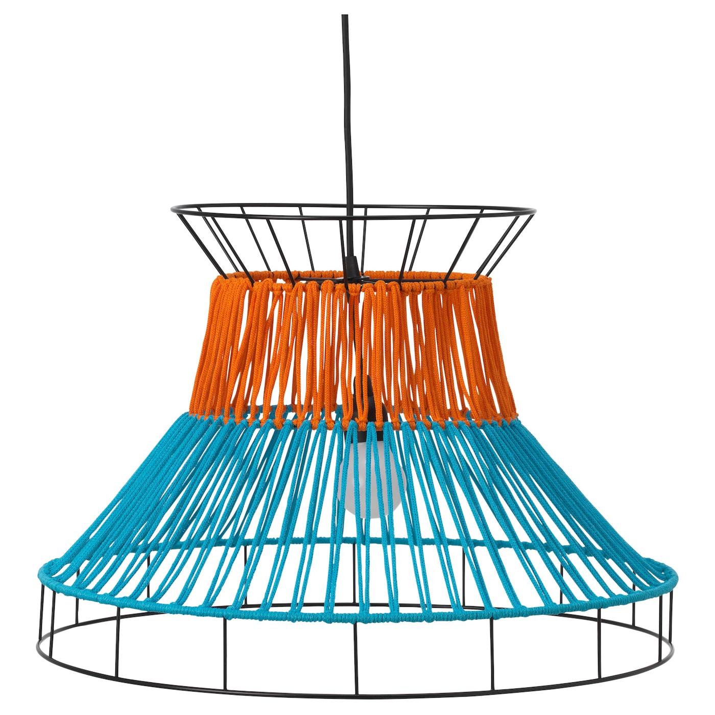 Solvinden led pendant lamp orangeblue outdoor 55 cm ikea ikea solvinden led pendant lamp aloadofball Images