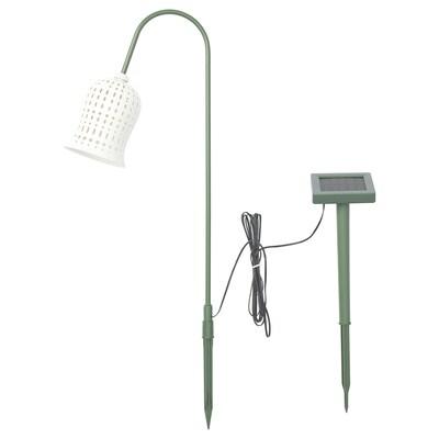 SOLVINDEN LED solar-powered ground stick, outdoor/snowdrop white