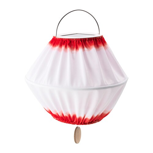 IKEA SOLVINDEN LED solar-powered pendant lamp Easy to use because no cables or plugs are needed.