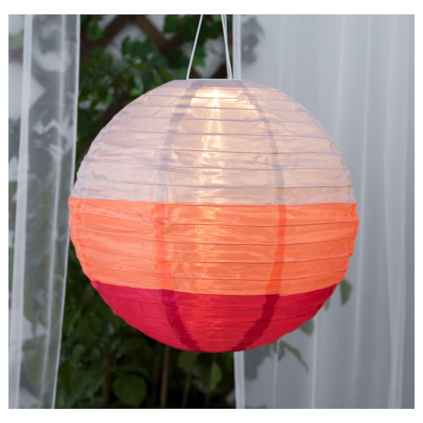 solvinden solar powered pendant lamp globe multicolour 45 cm ikea. Black Bedroom Furniture Sets. Home Design Ideas