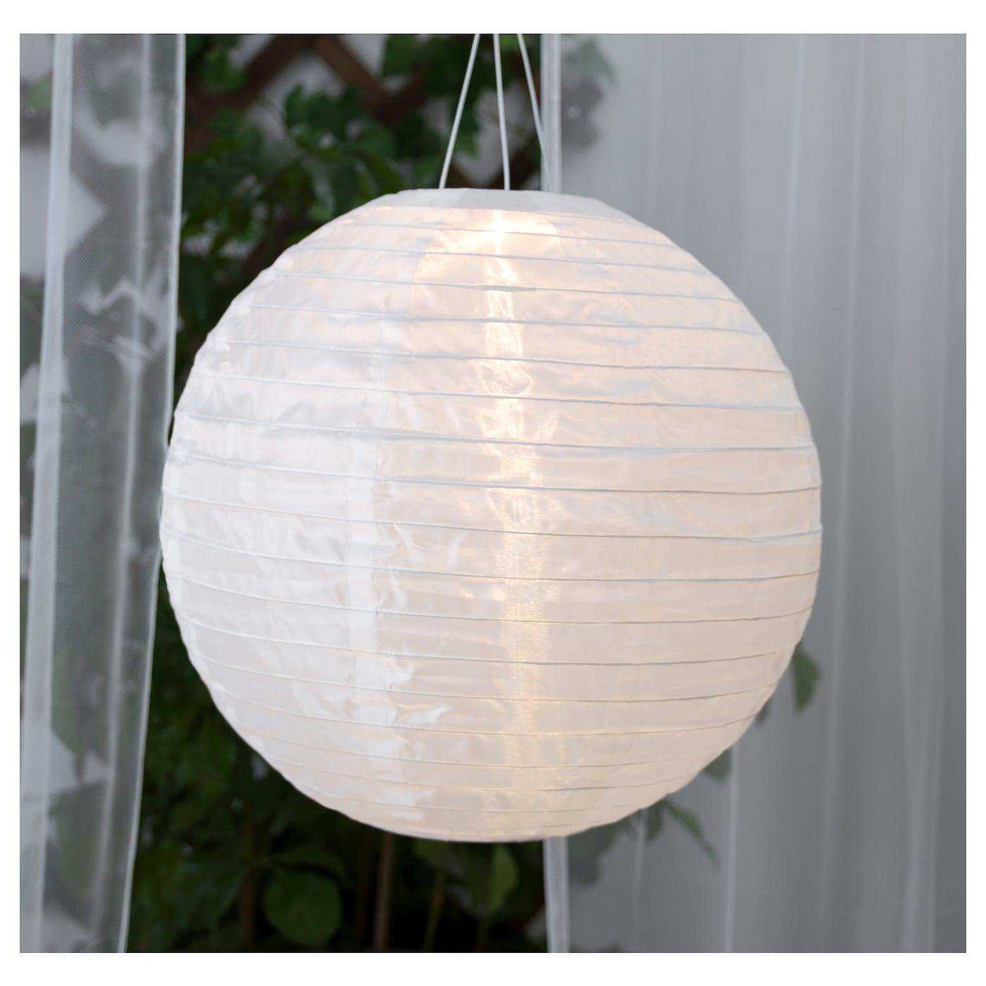 solvinden solar powered pendant lamp globe white 45 cm ikea. Black Bedroom Furniture Sets. Home Design Ideas