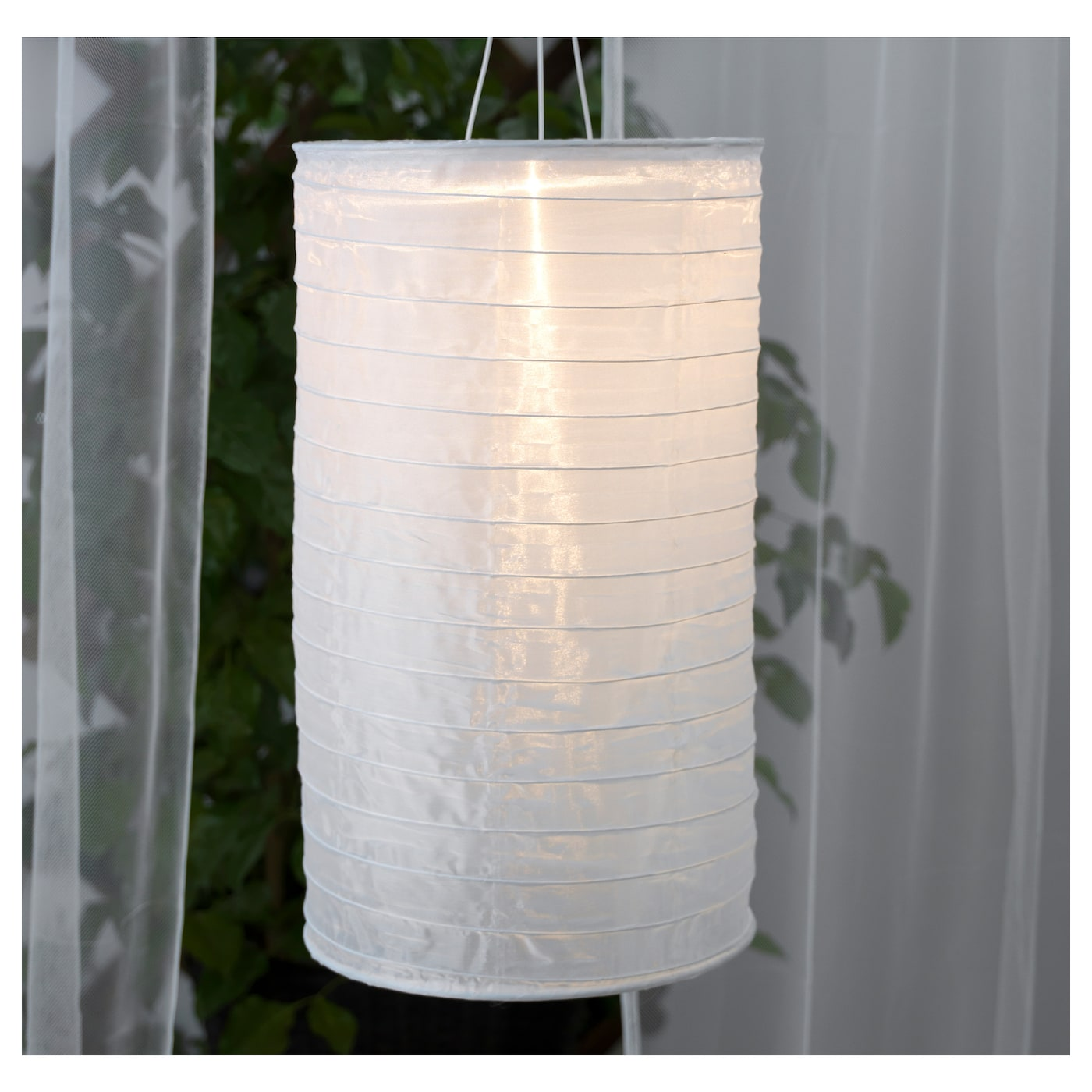 solvinden solar powered pendant lamp tube shaped white 28 cm ikea. Black Bedroom Furniture Sets. Home Design Ideas