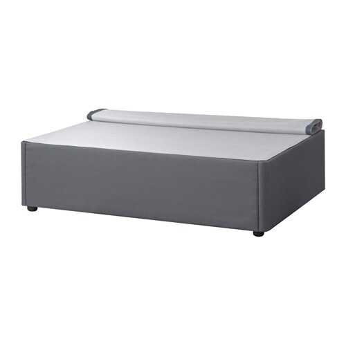 Beds bed frames ikea ireland for Grey divan bed base
