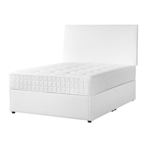 Solvorn divan base with 2 drawers white 135x95 cm ikea for White divan bed base