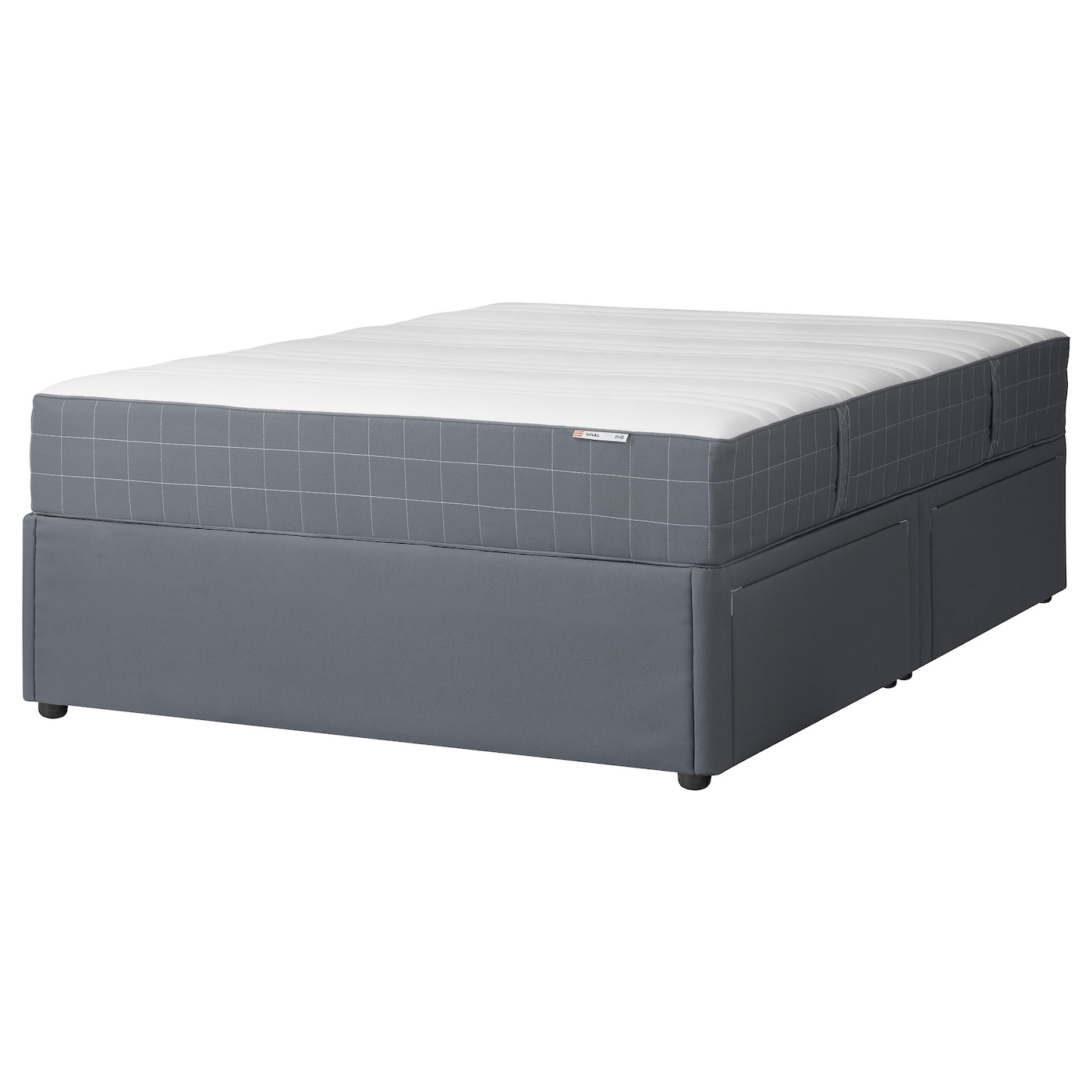 solvorn divan base with 4 drawers dark grey h v g standard