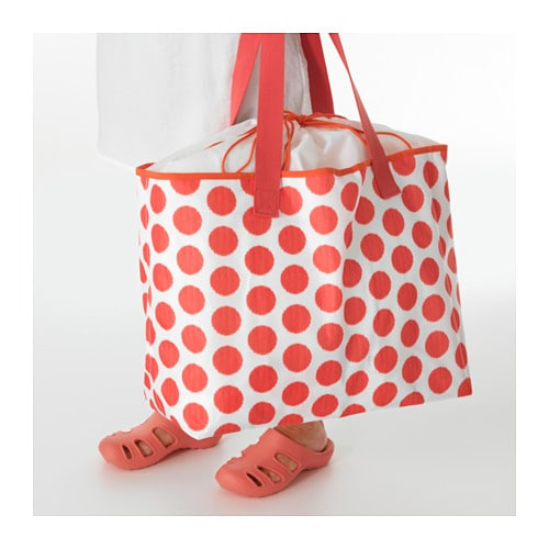 sommar 2016 beach bag red dotted ikea. Black Bedroom Furniture Sets. Home Design Ideas