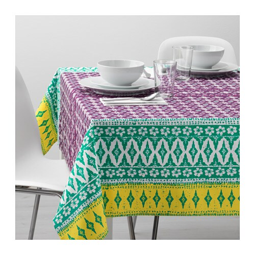 sommar 2017 tablecloth lilac 145x240 cm ikea. Black Bedroom Furniture Sets. Home Design Ideas