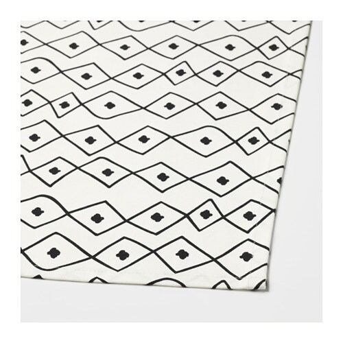 sommar 2017 tablecloth white black 145x320 cm ikea. Black Bedroom Furniture Sets. Home Design Ideas
