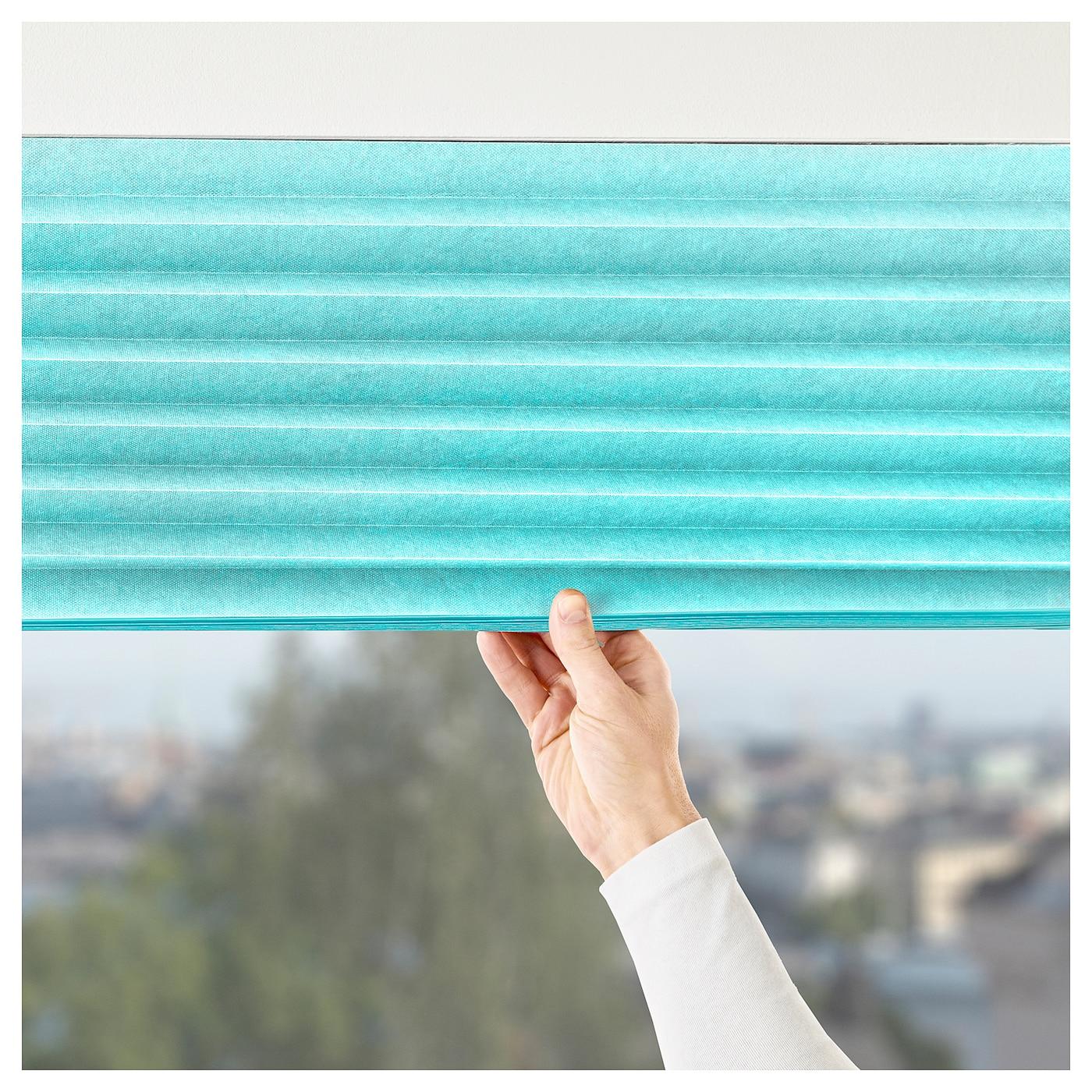 sommar 2018 pleated blind light turquoise 100x190 cm ikea. Black Bedroom Furniture Sets. Home Design Ideas