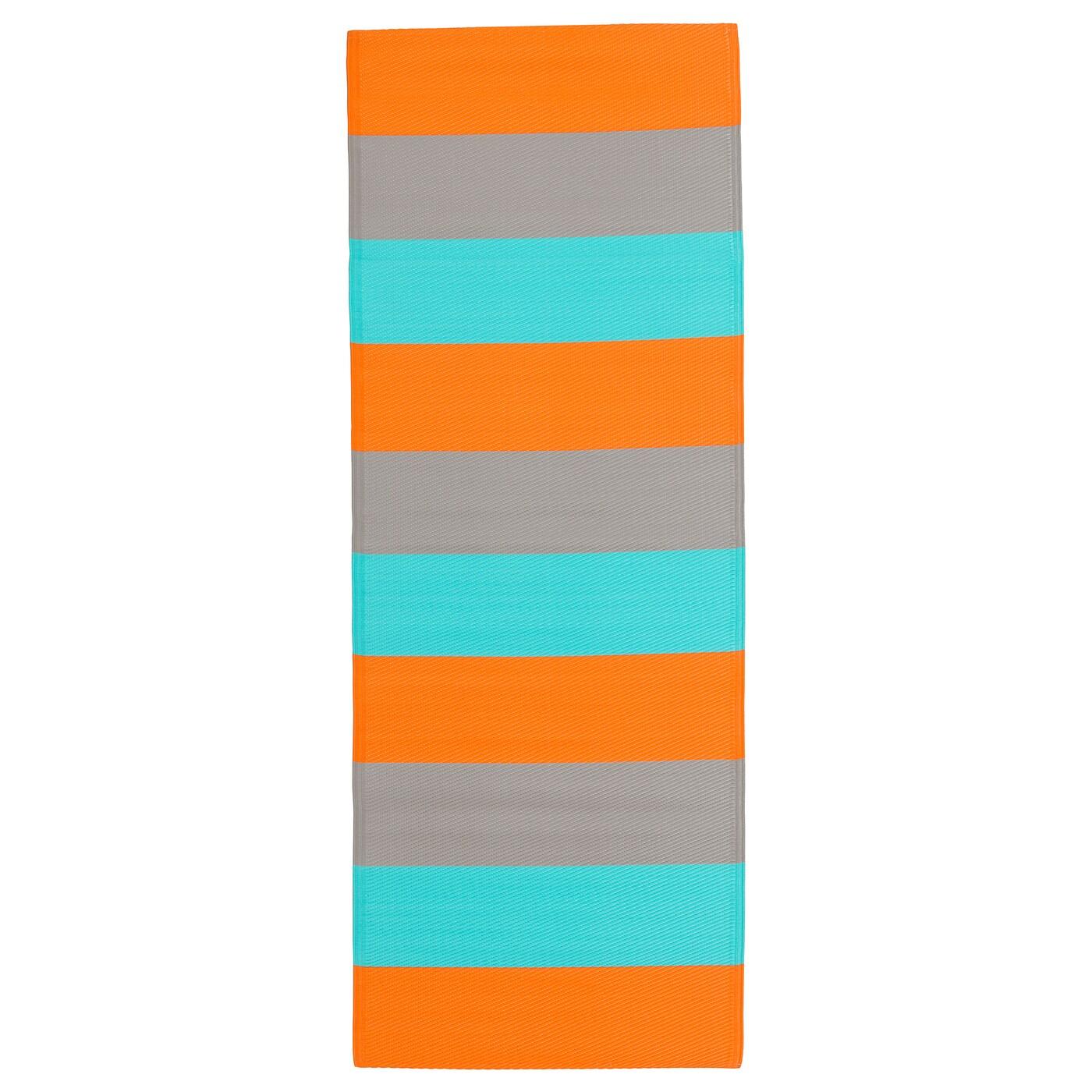 sommar 2018 rug flatwoven in outdoor striped orange. Black Bedroom Furniture Sets. Home Design Ideas