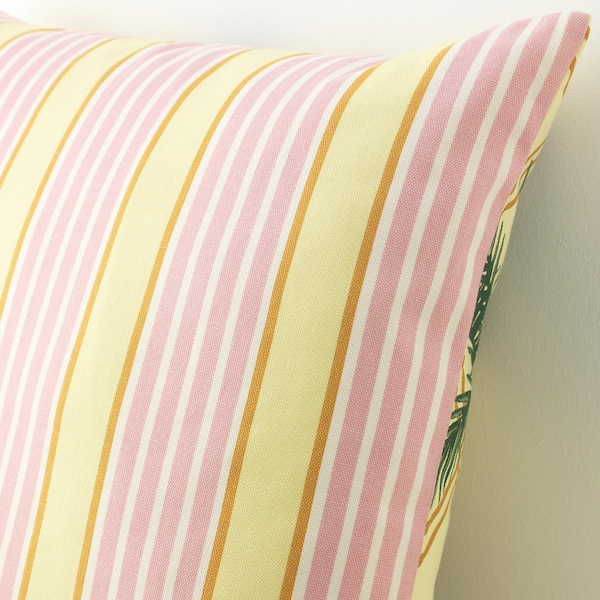 SOMMAR 2020 cushion cover light yellow/multicolour 50 cm 50 cm