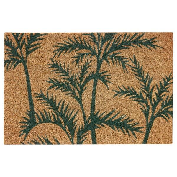 SOMMAR 2020 door mat, indoor green palm/natural 60 cm 40 cm 16 mm 0.24 m² 6350 g/m²