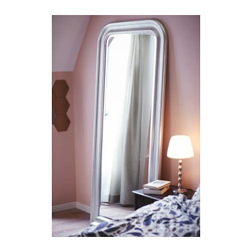 songe mirror silver colour 91x197 cm ikea. Black Bedroom Furniture Sets. Home Design Ideas