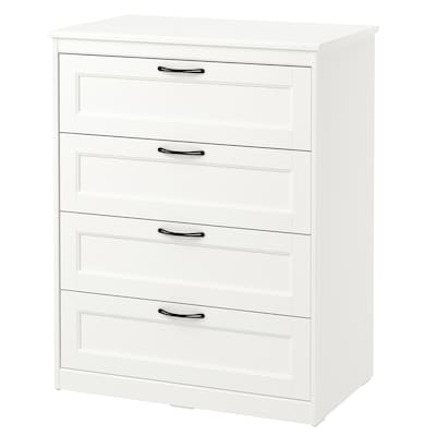 SONGESAND Chest of 4 drawers, white, 82x104 cm