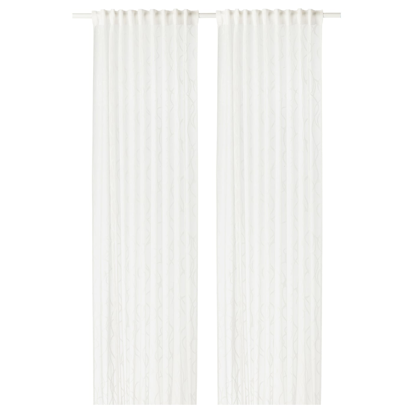 IKEA SPARVÖRT sheer curtains, 1 pair The curtains can be used on a curtain rod or a curtain track.