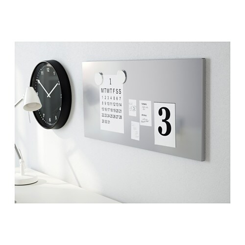 IKEA SPONTAN magnetic board Can be hung horizontally or vertically.
