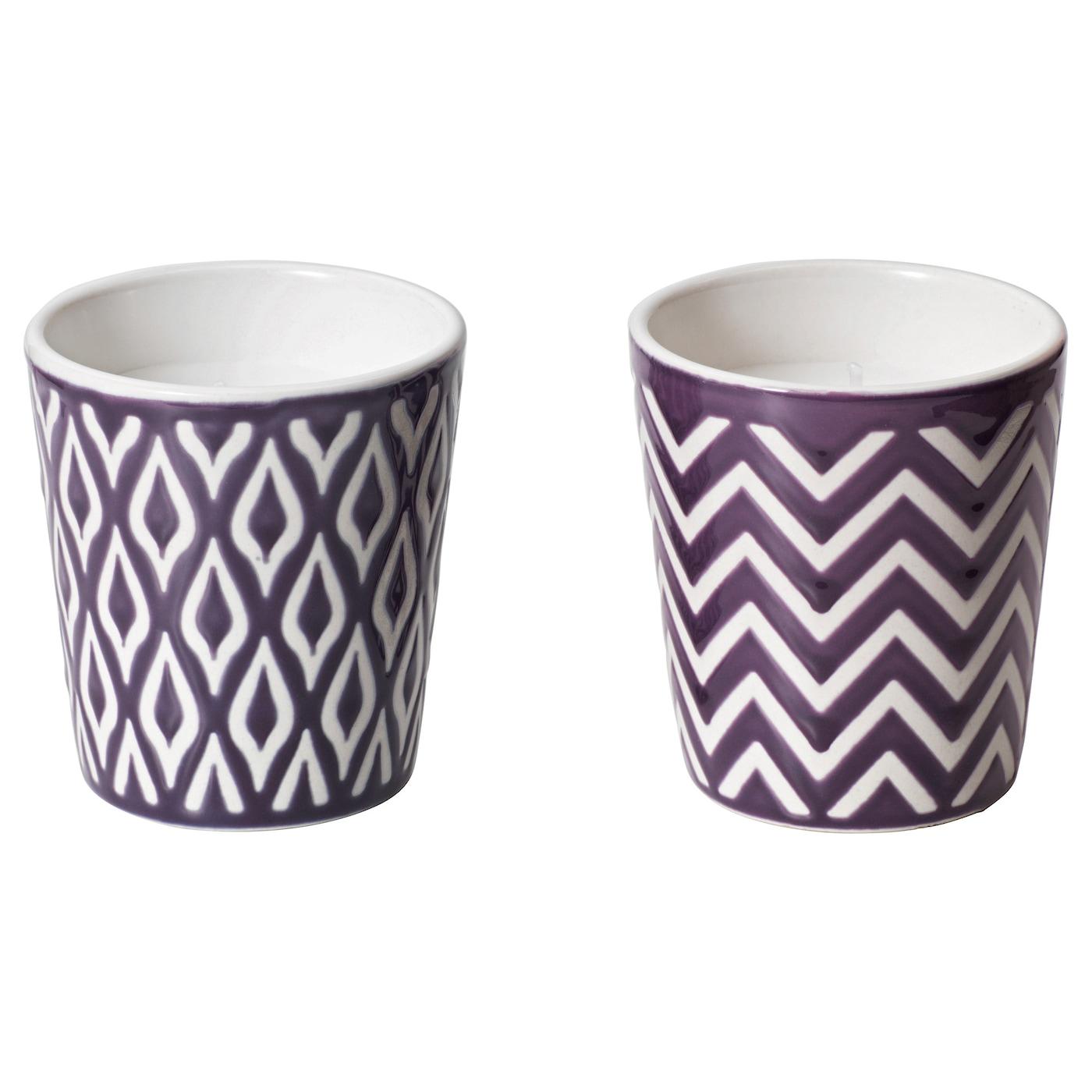 spralla scented candle in pot aloe vera lilac ikea. Black Bedroom Furniture Sets. Home Design Ideas