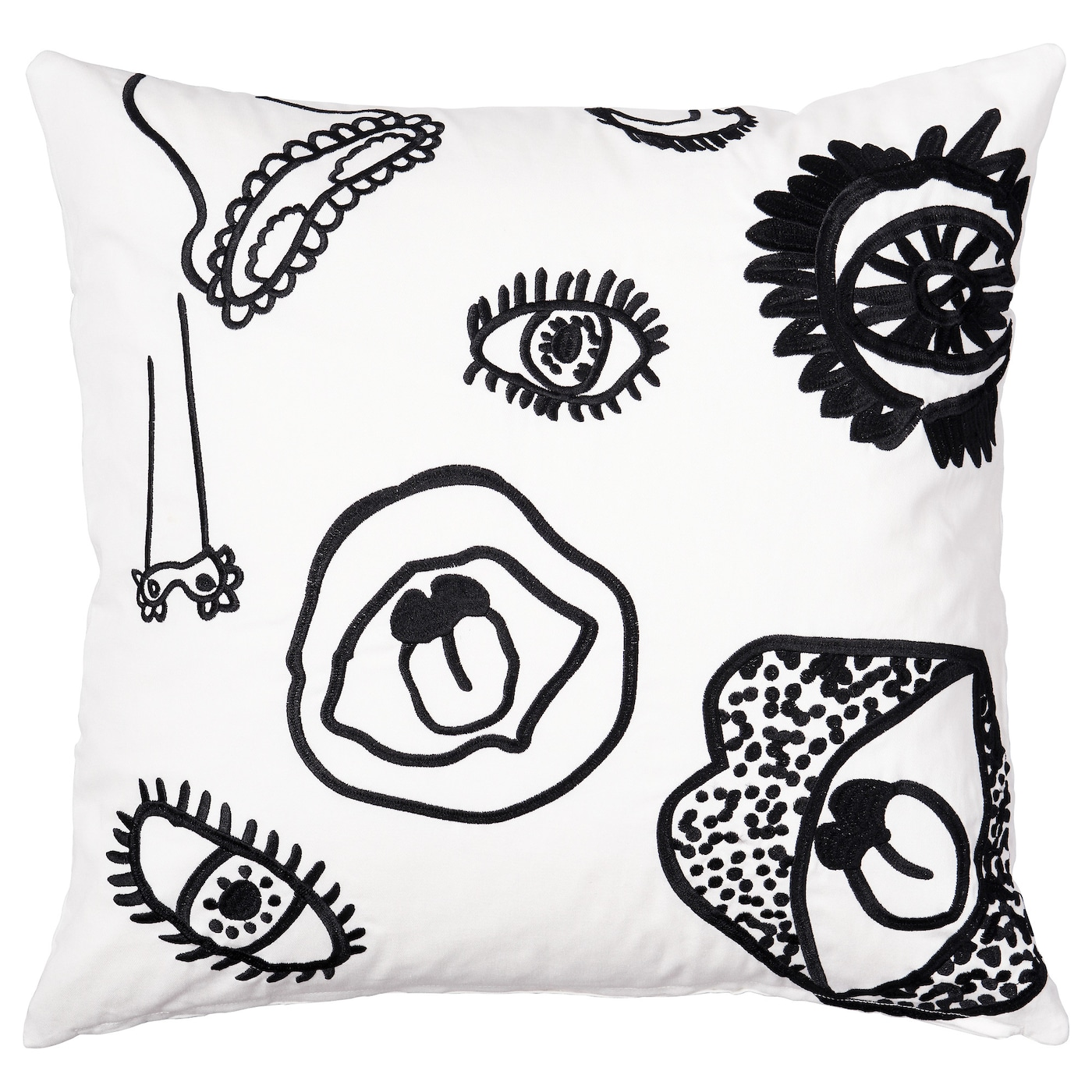 IKEA SPRIDD cushion cover Embroidery adds texture and lustre to the cushion.