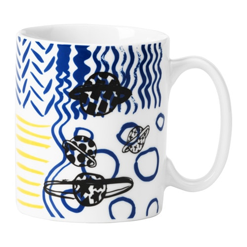 IKEA SPRIDD mug Made of feldspar porcelain, which makes the mug impact resistant and durable.