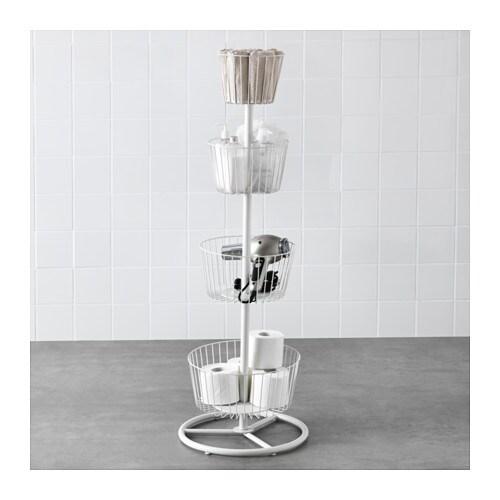 Sprutt 4 tier storage basket white ikea - Ikea panier rangement ...